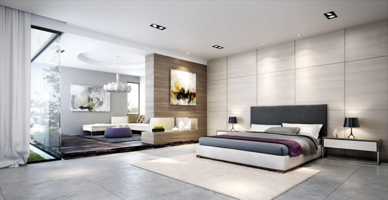 Contemporary Bedroom Interior Decorating