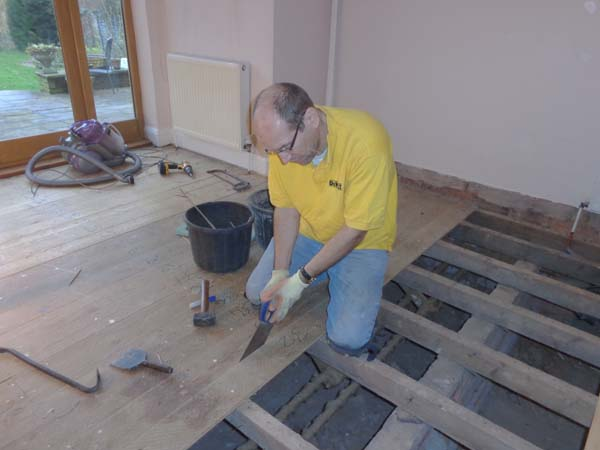 Removing Floorboards